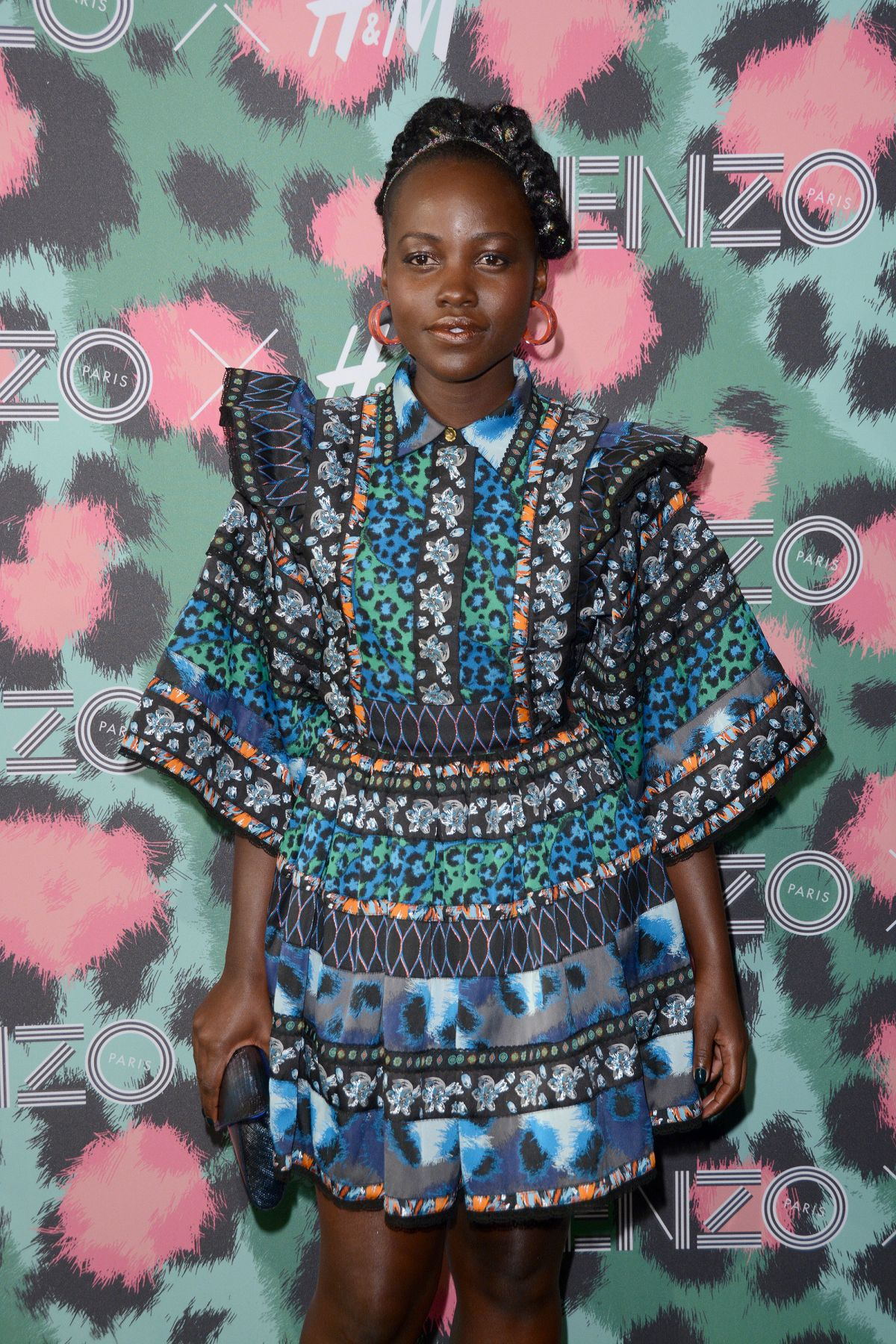 LUPITA NYONG\'O at Kenzo x H&M Launch Party in New York 10/19/2016 ...