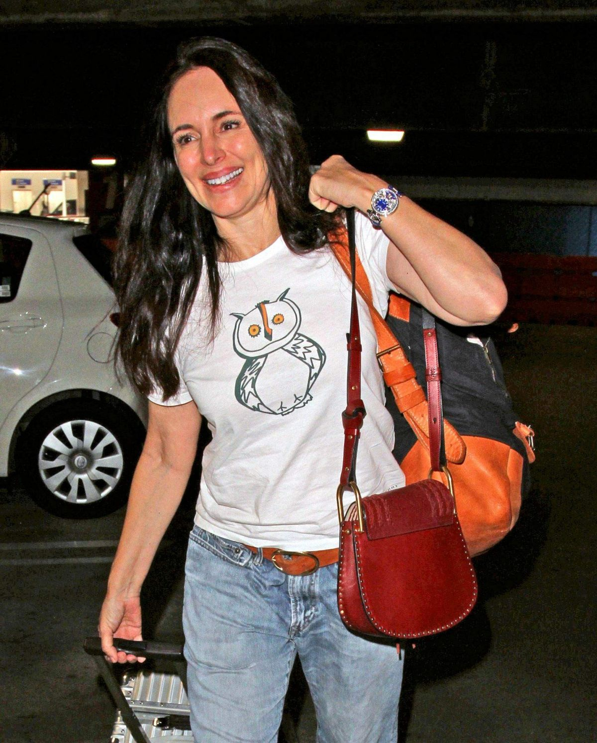 MADELEINE STOWE at LAX Airport in Los Angeles 10/19/2016