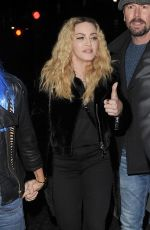 MADONNA Leaves Star Studded Halloween Party in London 10/28/2016