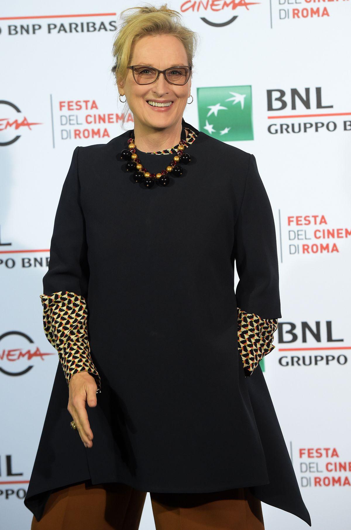 MERYL STREEP at Florence Foster Jenkins Rome Film Festival Premiere 10/20/2016