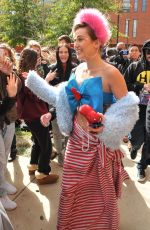 MILEY CYRUS at Campaigning for Hillary Clinton at George Mason University in Virginia 10/22/2016