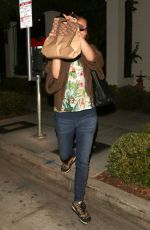 NATALIE PORTMAN Leaves Gracias Madre in West Hollywood 10/05/2016