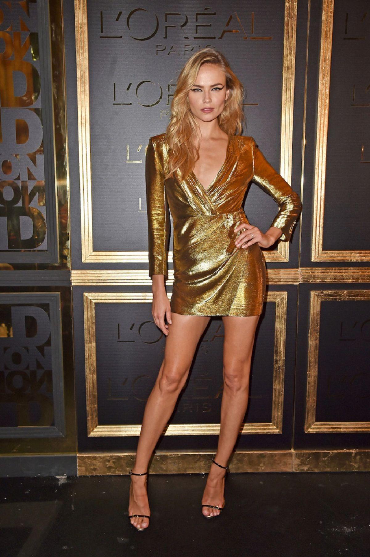 NATASHA POLY at Gold Obsession Party at Paris Fashion Week 10/02/2016