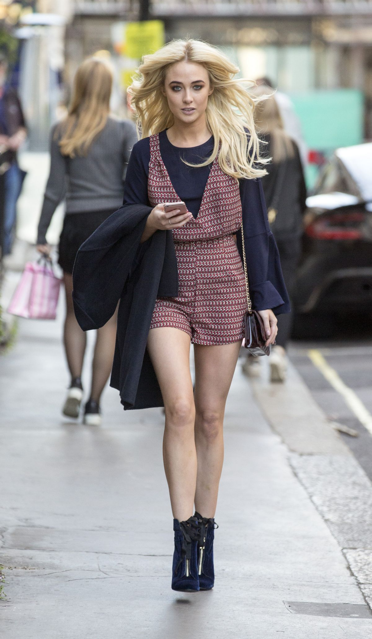 NICOLA HUGHES Out Shopping in London 10/05/2016