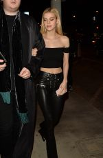 NICOLA PELTZ Out for Dinner in West Hollywood 10/19/2016