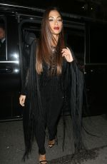 NICOLE SCHERZINGER Arrives at Arts Club in Mayfair 10/10/2016