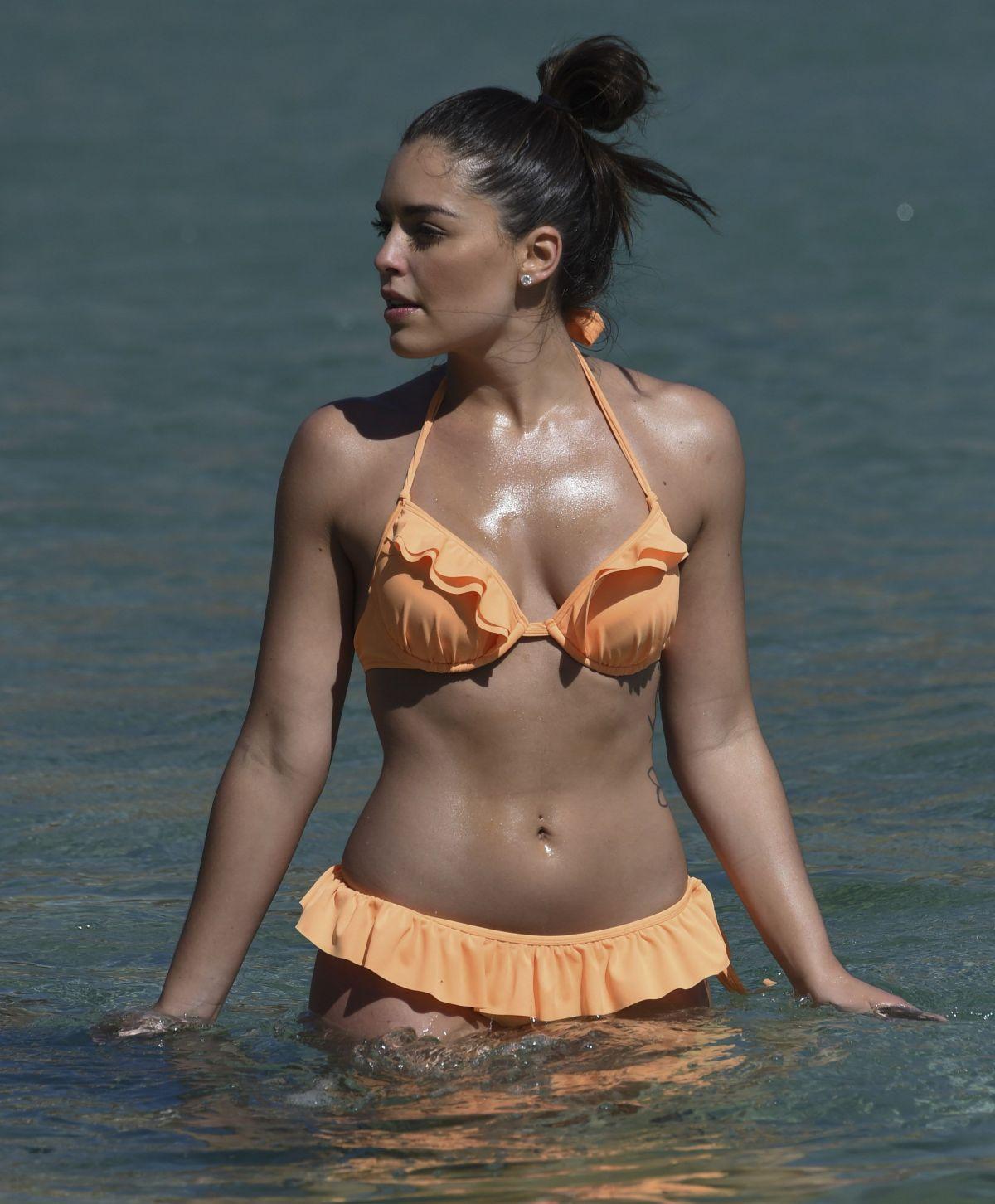 OLYMPIA VALANCE in Bikini at a Beach in Mykonos 10/03/2016