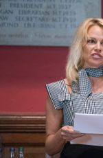 PAMELA ANDERSON at The Oxford Union in UK 10/15/2016