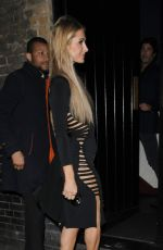 PARIS HILTON at Chiltern Firehouse in London 10/05/2016