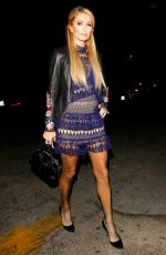 PARIS HILTON Out for Dinner at Delilah in West HOllywood 10/13/2016