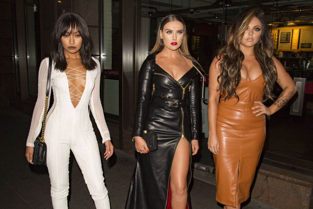 PERRIE EDWARDS, LEIGH-ANNE PINNOCK and JESY NELSON at Stirling Bar in Gherkin 10/09/2016
