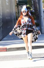 PHOEBE PRICE Out Shopping in Beverly Hills 10/05/2016