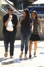 Pregnant MILA KUNIS Out and About in Studio City 10/21/2016