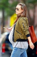 Pregnant OLIVIA WILDE Out in New York 10/06/2016