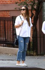 Pregnant OLIVIA WILDE Out in New York 10/19/2016