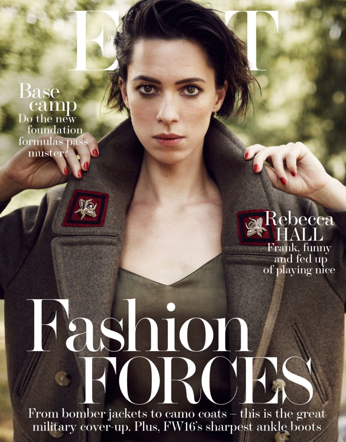 REBECCA HALL in The Edit Magazine, September 2016