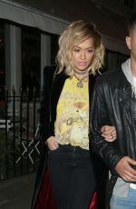 RITA ORA at Beach Blanket Babylon in Notting Hill 09/29/2016
