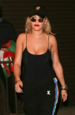RITA ORA Leaves a Recording Studio in West Hollywood 10/15/2016
