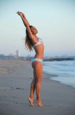 SARAH JANE CRAWFORD in Bikini on the Beach in Santa Monica 10/16/2016