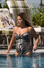 SELINA WATERMAN-SMITH in Swimsuit at a Pool in Dubai 10/20/2016