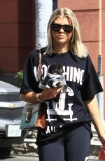 SOFIA RICHIE Leaves a Nail Salon in Beverly Hills 10/07/2016