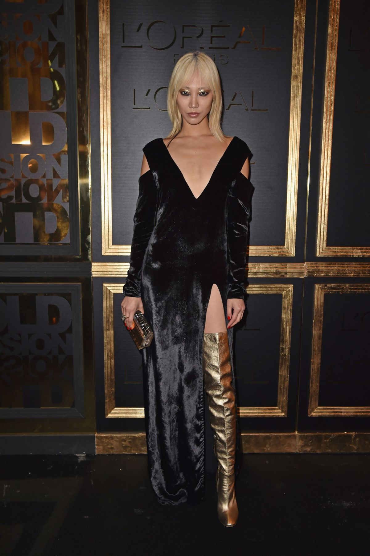 SOO JOO PARK at Gold Obsession Party at Paris Fashion Week 10/02/2016