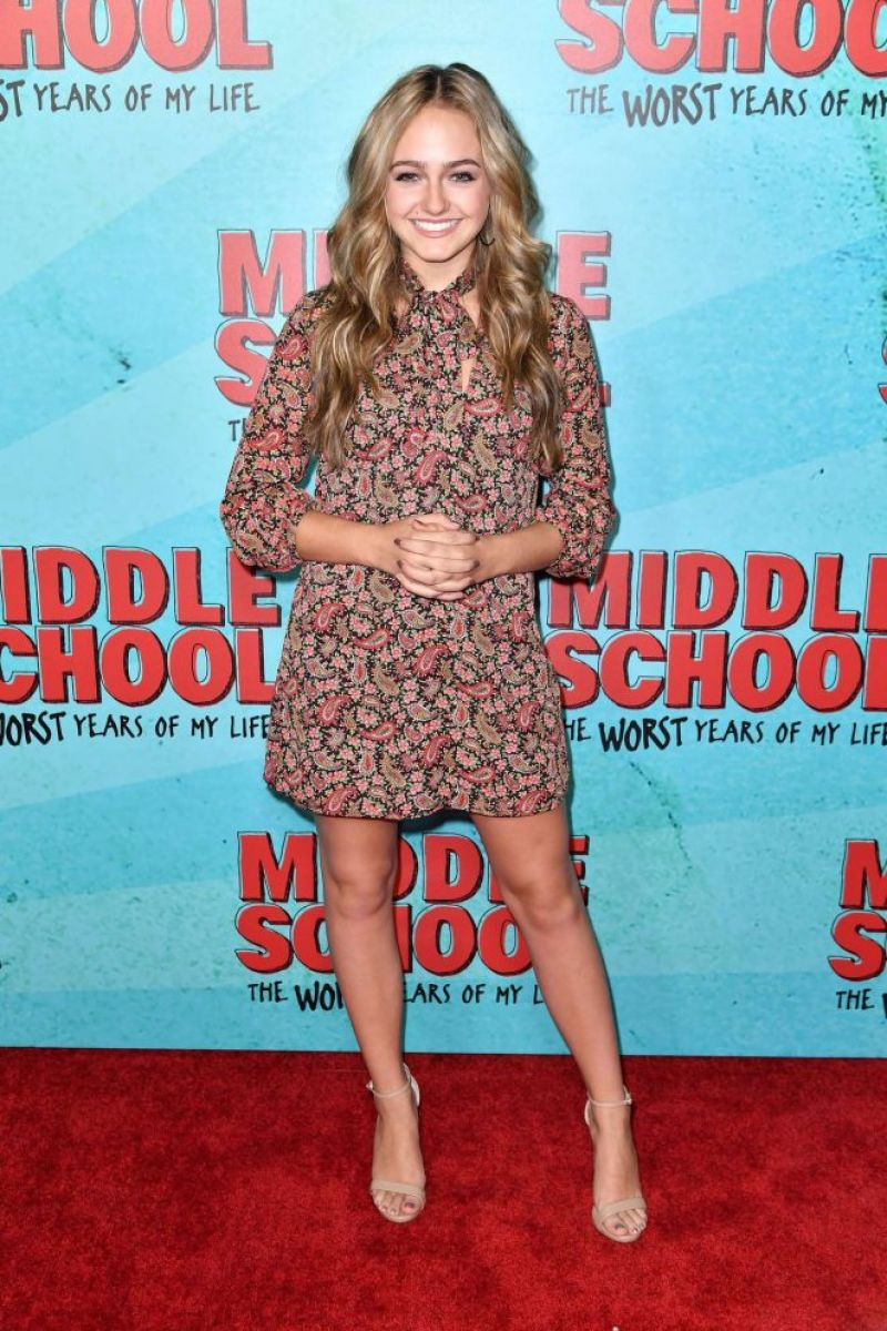 SOPHIE REYNOLDS at 'Middle School: The Worst Years of My Life' Premiere in Los Angeles 10/05/2016