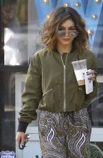 VANESSA HUDGENS Leaves a Yoga Class in Los Angeles 10/15/2016