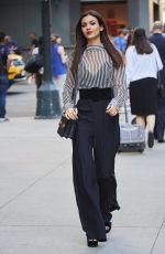 VICTORIA JUSTICE Out and About in New York 10/18/2016