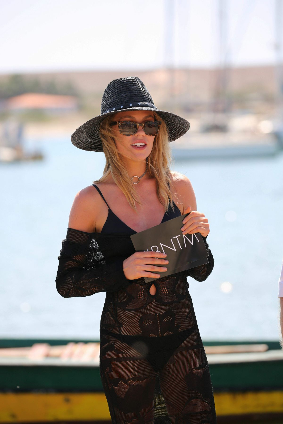 ABIGAIL ABBEY CLANCY in BIkini at a Yacht on the Set of Britain's Next Top Model 10/26/2016