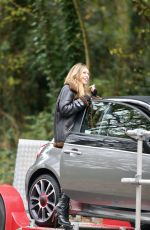 ABIGAIL ABBEY CLANCY on the Set of an Advert for Fiat Abarth in London 11/08/2016