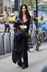 ADRIANA LIMA Arrives at Victoria's Secret Fashion Show Fittings in New York 11/01/2016