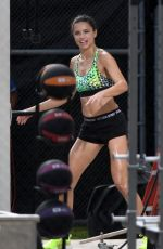 ADRIANA LIMA Shooting Workout Scene for Victoria