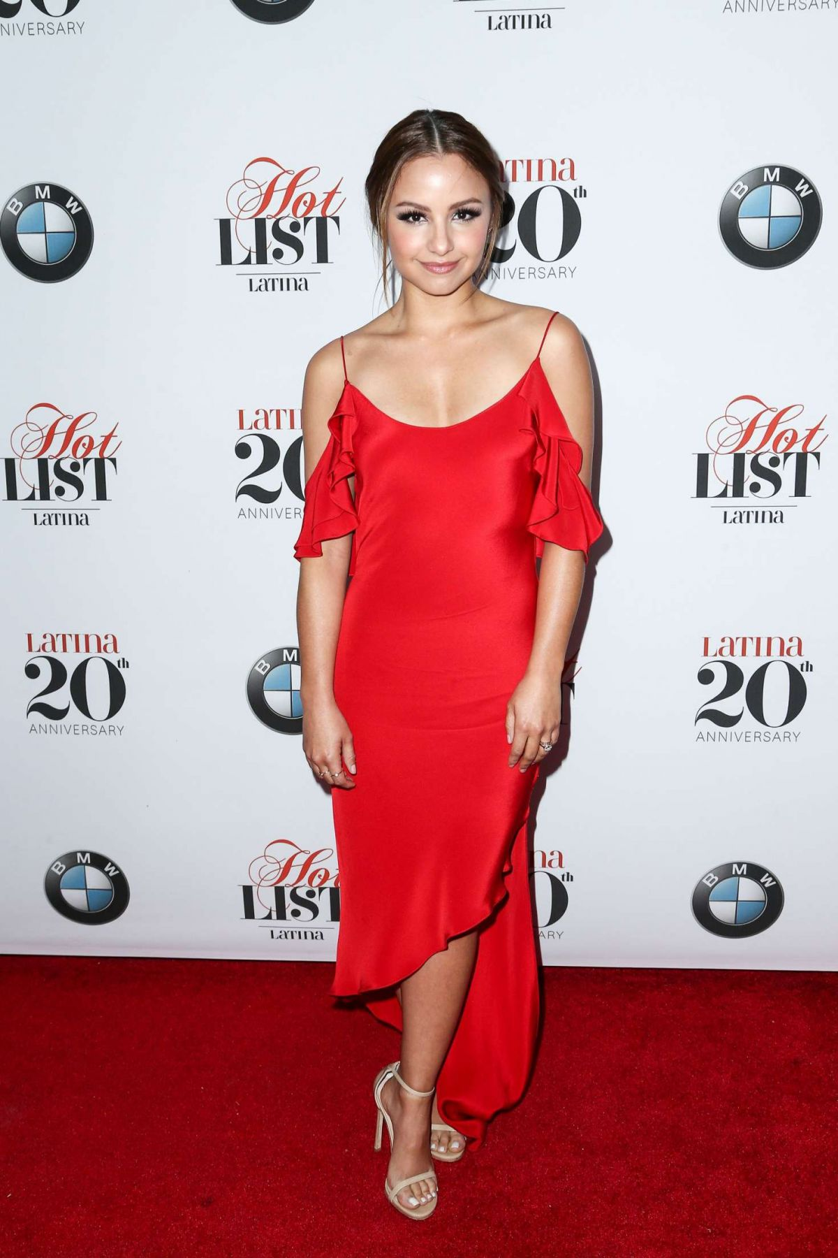 AIMEE CARRERO at Latina's 20th Anniversary Celebrating Hollywood Hot List Honorees in Los Angeles 11/02/2016