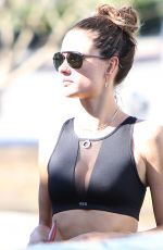 ALESSANDRA AMBROSIO in Tank Top Out in Los Angeles 11/24/2016