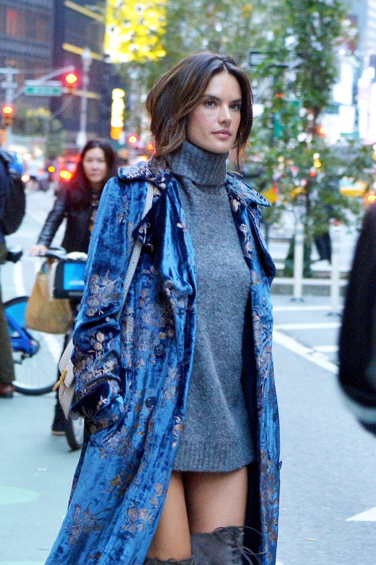 ALESSANDRA AMBROSIO Out and About in New York 11/01/2016
