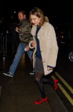 ALEXA CHUNG Night Out in London 11/03/2016