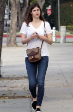 ALEXANDRA DADDARIO Out and About in Beverly Hills 11/15/2016
