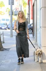 ALICE EVE Walking Her Dog Out in Beverly Hills 11/16/2016