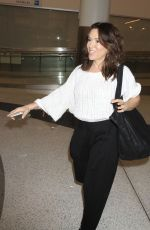ALYSSA MILANO at Los Angeles International Airport 11/13/2016