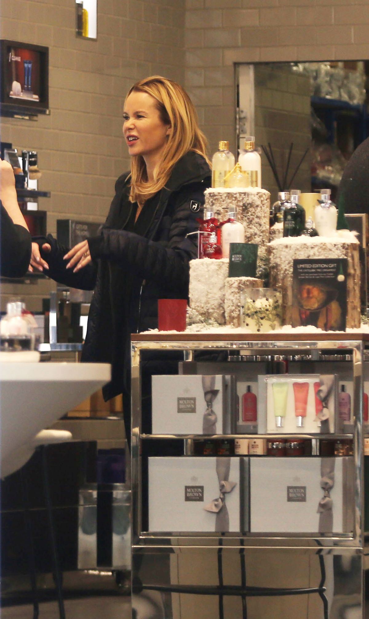 AMANDA HOLDEN at a Beauty Salon in London 11/26/2016