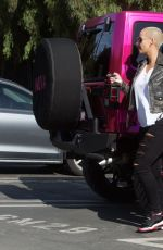 AMBER ROSE Out and About in Studio City 11/23/2016