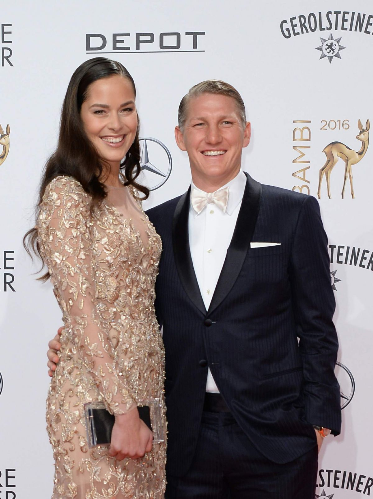 ANA IVANOVIC and Bastian Schweinsteiger at 68th Bambi Media Awards in Berlin 11/17/2016