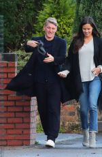 ANA IVANOVIC and Bastian Schweinsteiger Out for Lunch in Cheshire 11/04/2016