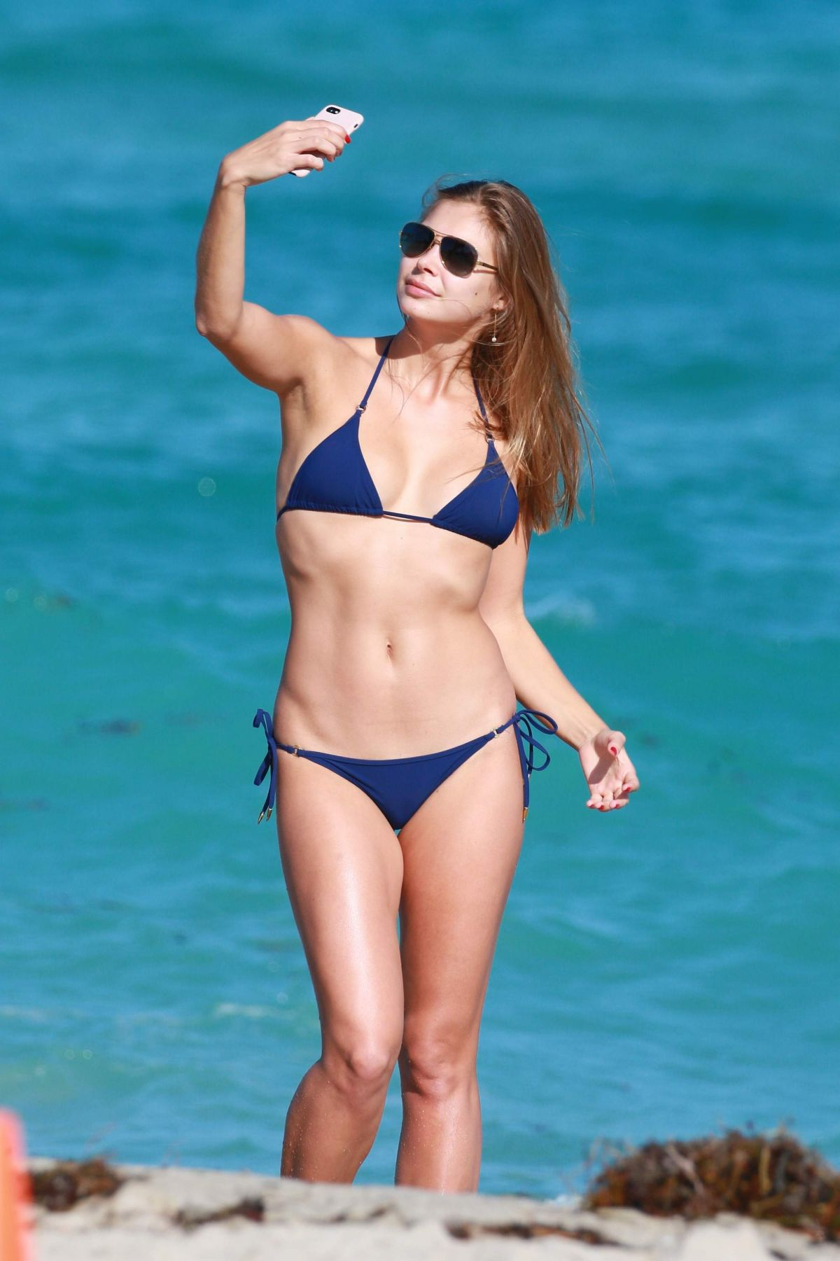 ANASTASIA GALKOVA in Bikini at a Beach in Miami 11/20/2016