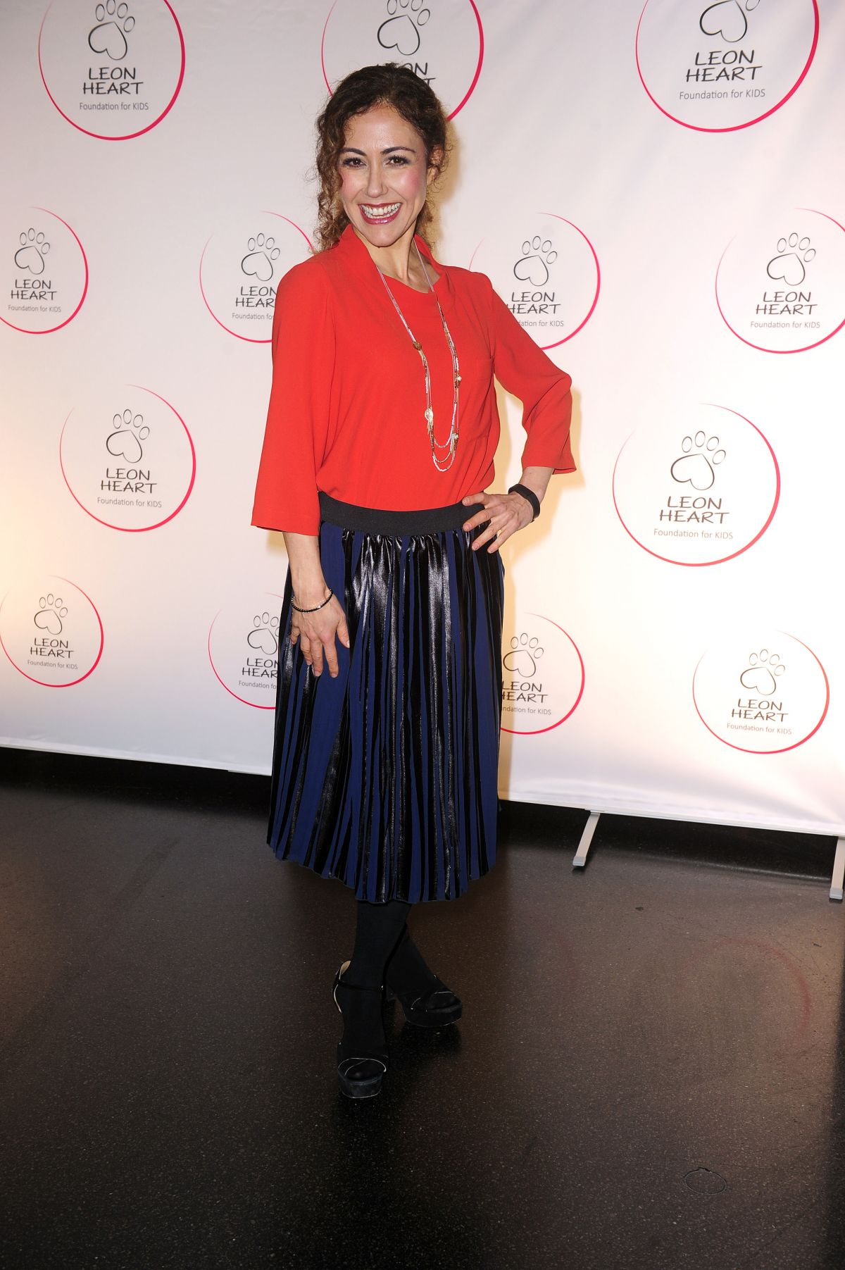 ANASTASIA ZAMPOUNIDIS at Leon Heart Foundation Charity Dinner in Berlin 10/28/2016