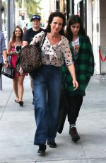 ANDIE MACDOWELL Out Shopping on Rodeo Drive in Beverly Hills 11/05/2016