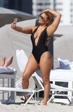 ANDREA GAVIRIA in Swimsuit on the Beach in Miami 11/20/2016