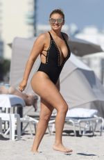ANDREA GAVIRIA in Swimsuit on the Beach in Miami 11/20/2016