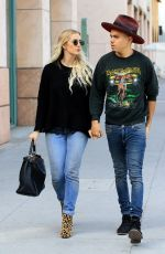 ASHLEE SIMPSON and Evan Ross Out in Beverly Hills 11/28/2016